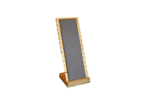 Bamboo jewelry display for necklaces small