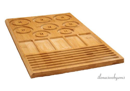 Bamboo beading board for bracelets