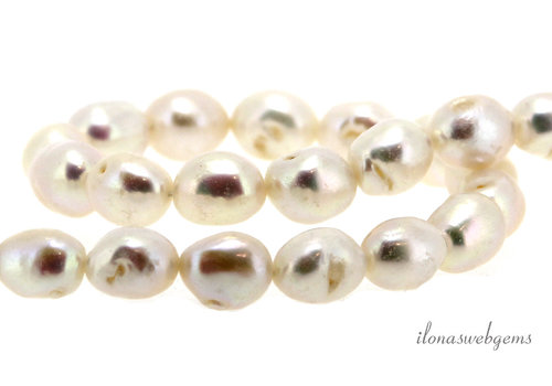 Freshwater pearl white approx. 19x21mm