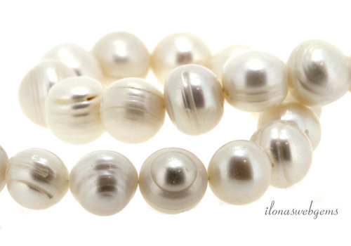 Freshwater pearl white up and down from approx. 12 to 13.5mm
