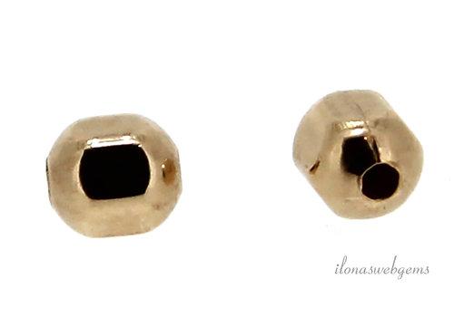 14k/20 Gold filled kraal ca. 3x3mm