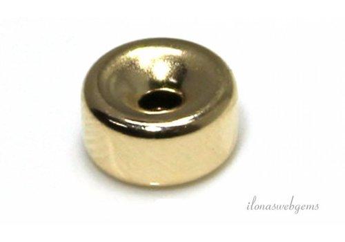 14 karaat gouden rondel ca. 7x4mm