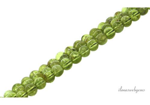 Peridot beads round about 6mm
