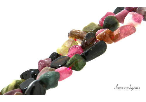 Tourmaline beads nuggets about 10x5mm