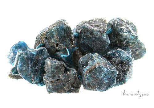 Apatite beads rough approx. 23x19x23mm