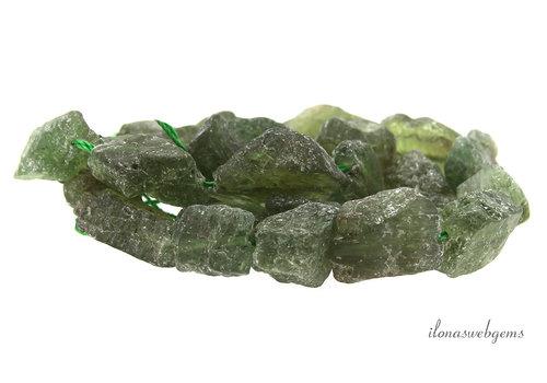 Peridot beads rough approx. 13x17x8mm