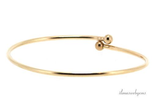 14k/20 Gold filled armband met bolletjes ca. 21cm