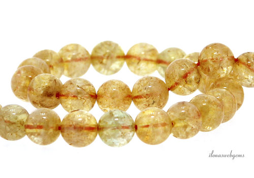 Citrine beads round about 6mm