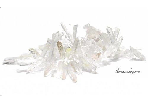Bergkristal Obelisk kralen ca. 15-23mm