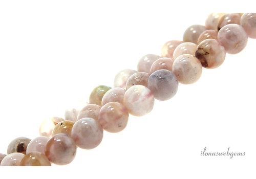 Sakura Agate beads round about 7.5mm