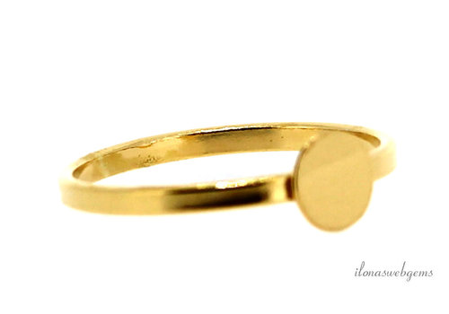 Vermeil ring for cabochon approx. 6-12mm