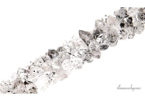 Herkimer Diamond beads about 7x4mm
