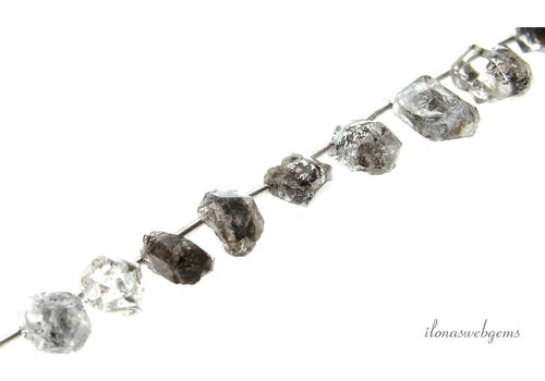 Herkimer Diamond beads cones about 12x5mm