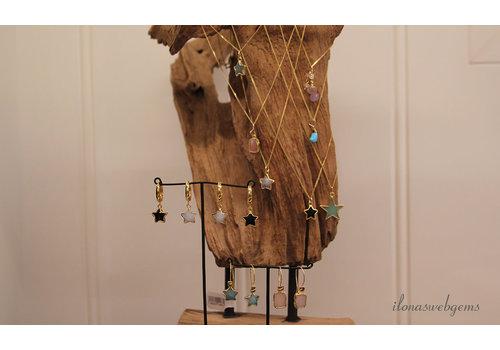 Inspirational jewelry: earrings with minimalist pendants