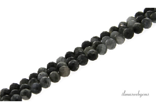 Agate beads faceted around 5mm