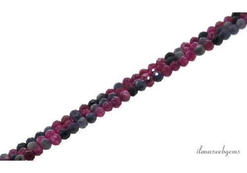Sapphire and Ruby beads mini faceted around 2mm