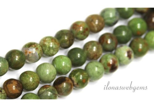 Green Opal beads round about 6mm