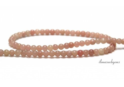 Pink Opal beads round about 4mm AA quality