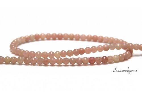 Roze Opaal kralen rond ca. 3mm AA kwaliteit