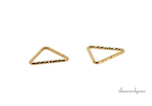 14k/20 Goldfilled lock-in eyelet triangle 10 x 0.9mm