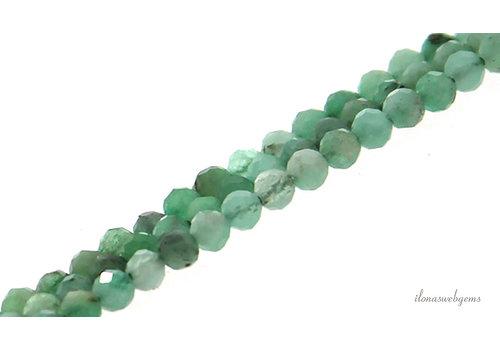 Smaragd kralen facet rond ca. 2.5mm