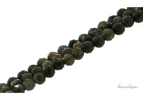 Groene Toermalijn kralen facet rond ca. 3.5mm
