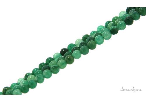 Moss agate beads round mini about 2mm