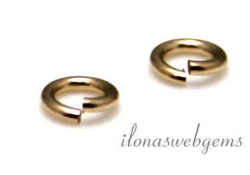 14 carat gold lock in eye open approx. 4x0.6mm