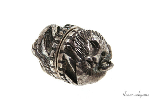 Sterling silver magnetic lock lion approx. 13x16mm