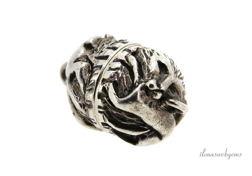 Sterling silver magnetic lock lion approx. 10.5x13.5mm