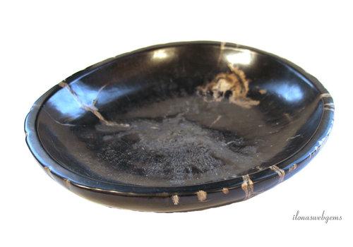 Petrified wooden bowl approx. 25x23x4cm