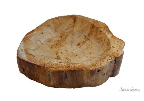 Petrified wooden bowl approx. 22x21x5cm