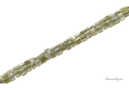 Diamant kralen Yellow facet vierkant