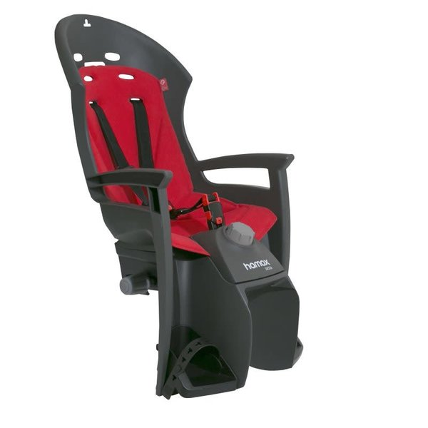 Hamax HAMAX SIESTA REAR PANNIER RACK MOUNT CHILDSEAT: GREY/RED