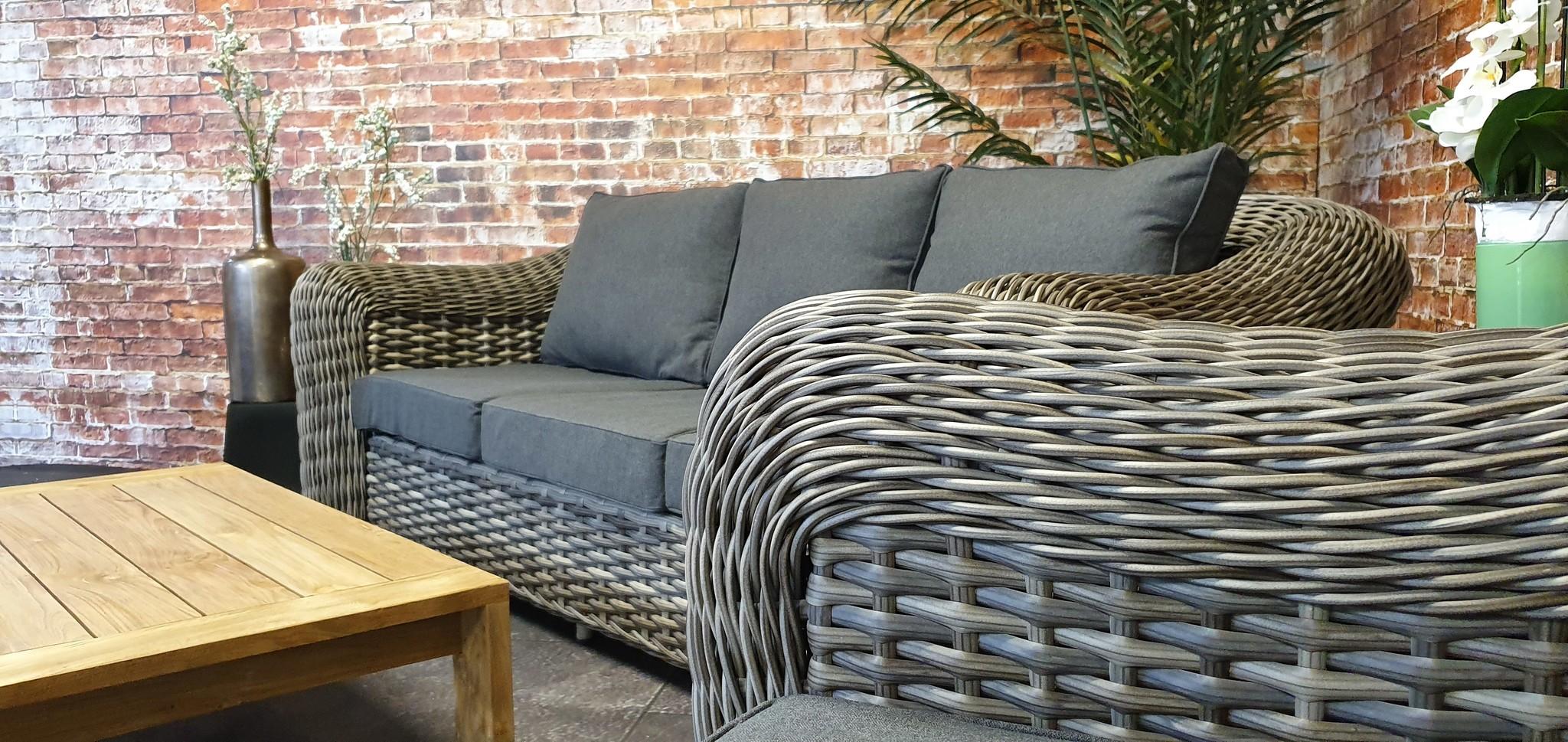 SenS-Line Davinci wicker 3-zit sofa