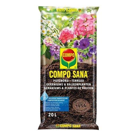 COMPO SANA   Potgrond Geraniums & Balkonplanten 20 L
