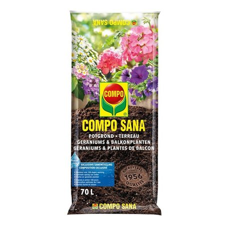 COMPO SANA   Potgrond Geraniums & Balkonplanten 70 L