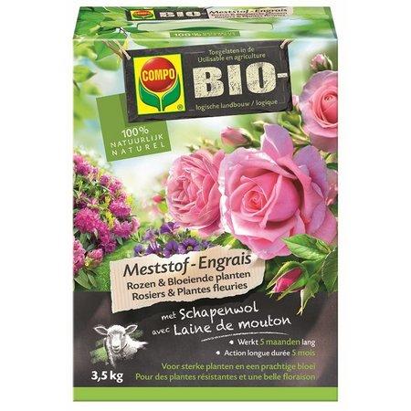 COMPO Bio Meststof Rozen & Bloeiende Planten 3,5 kg