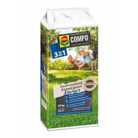 COMPO Bio Gazonmeststof 3-in-1 20 kg