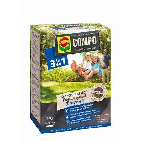 COMPO Bio Gazonmeststof 3-in-1 3 kg
