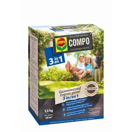 COMPO Bio Gazonmeststof 3-in-1 1,5 kg