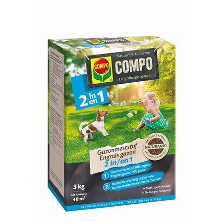 COMPO Bio Gazonmeststof 2-in-1 3 kg