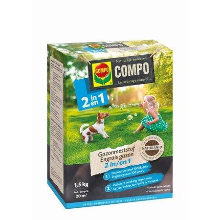 COMPO Bio Gazonmeststof 2-in-1 1,5 kg