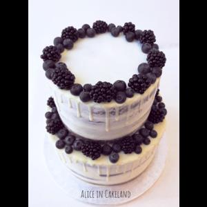 Dark Forest Drip cake
