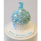Blue stars Giant cupcake cake
