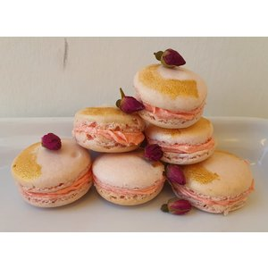Vegan Turkish Delight Macarons - Set of 6