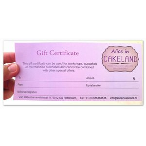 The Alice in Cakeland Giftcard