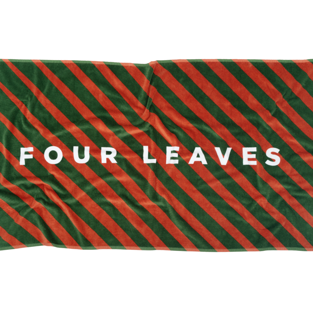 Tallentire House Four Leaves multicolour sustainable beach towel