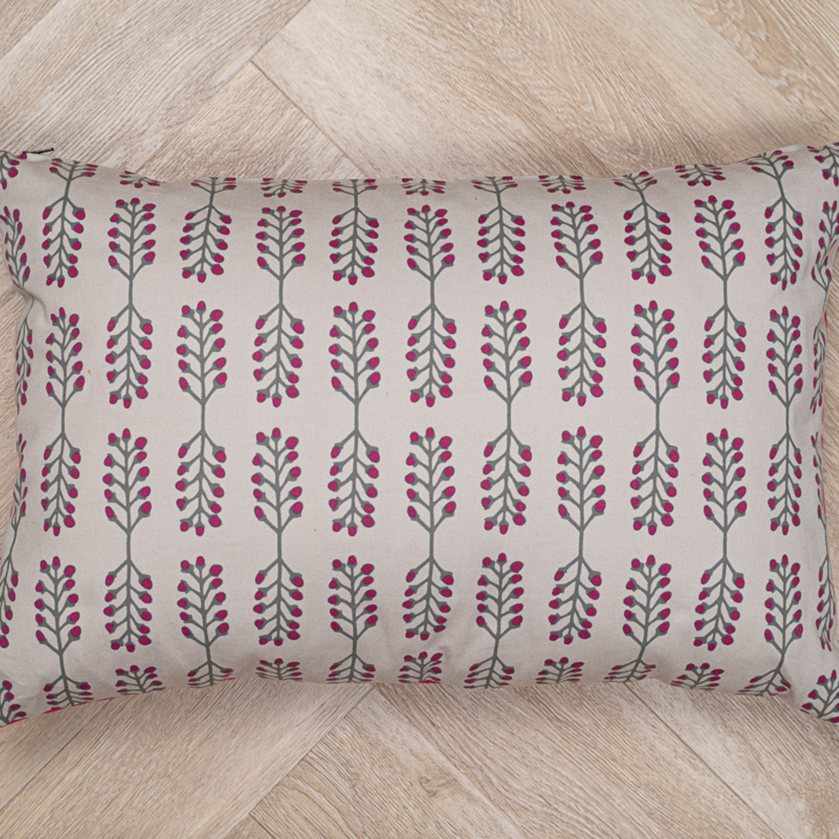 Tallentire House Tallentire House Stem Fuchsia red sustainable cushion