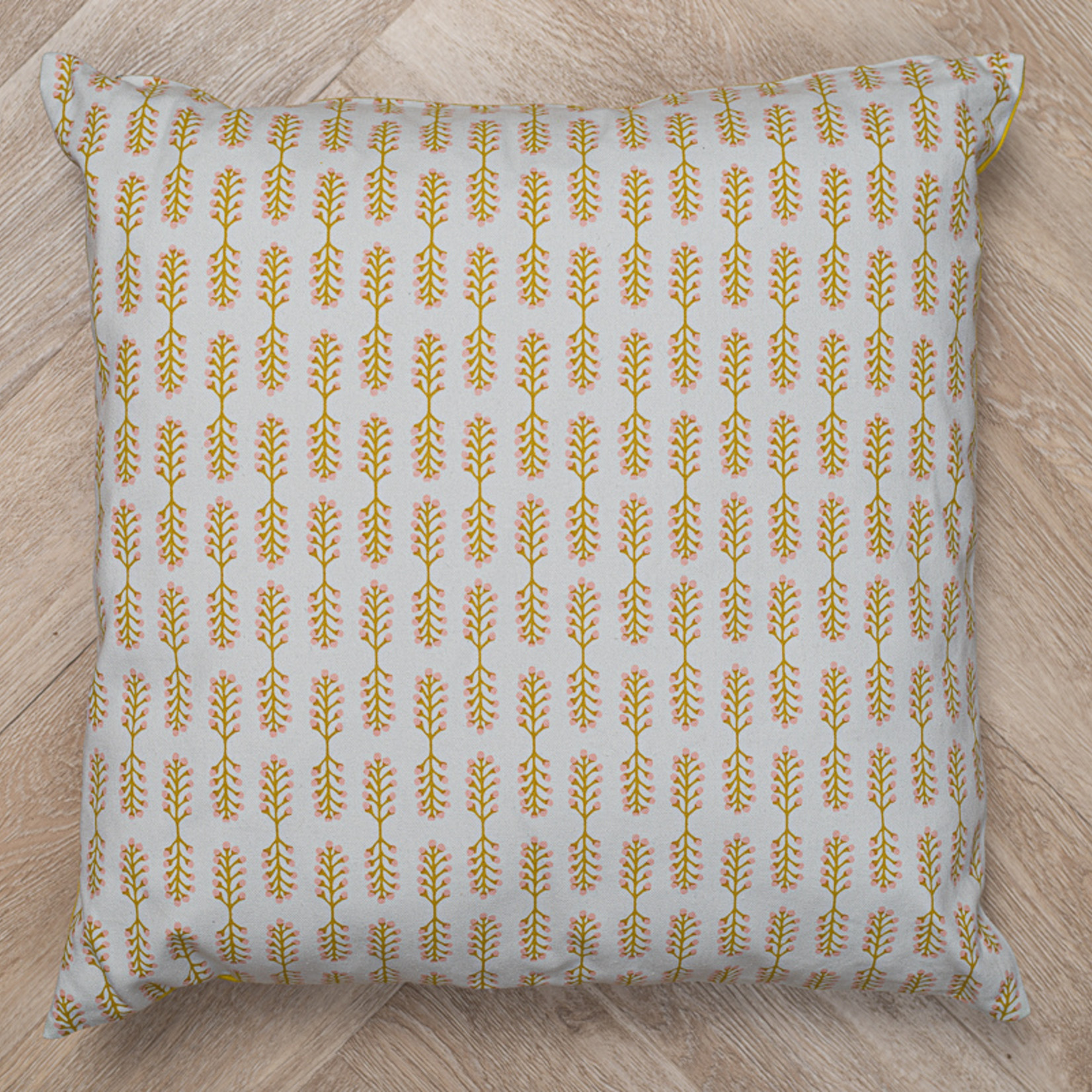 Tallentire House Tallentire House Small Stem Oil Yellow sustainable cushion